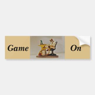 Game on bumper sticker