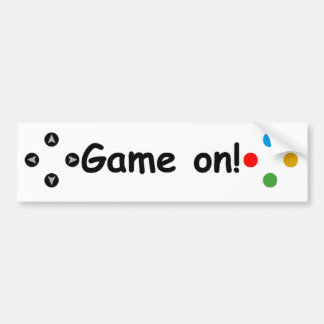 Game On! Controller Bumper Sticker