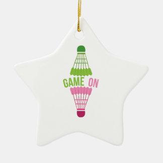 Game On Ceramic Star Ornament