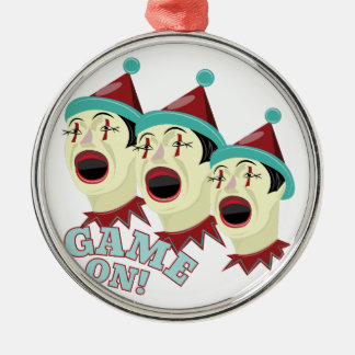 Game On Silver-Colored Round Decoration