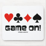 Game On! (Four Card Suits) Mouse Pads
