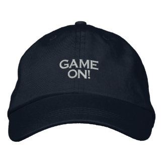 GAME ON, PC GAME PLAYER CAP EMBROIDERED CAP