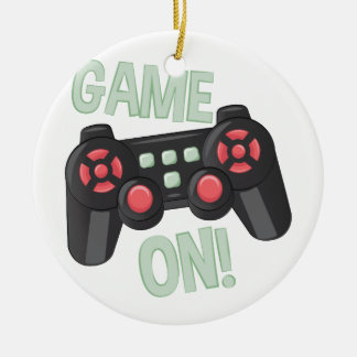 Game On Round Ceramic Decoration