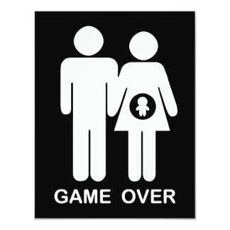 Game Over 11 Cm X 14 Cm Invitation Card