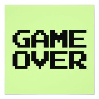 Game Over 13 Cm X 13 Cm Square Invitation Card