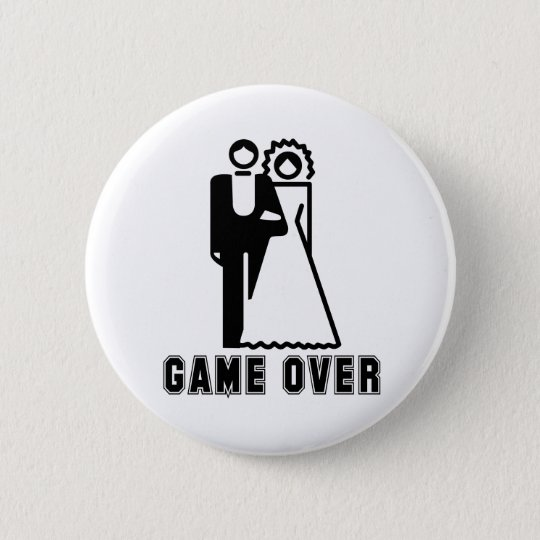 GAME OVER 2 6 CM ROUND BADGE