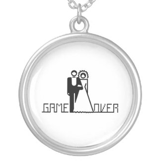 GAME OVER 4 ROUND PENDANT NECKLACE
