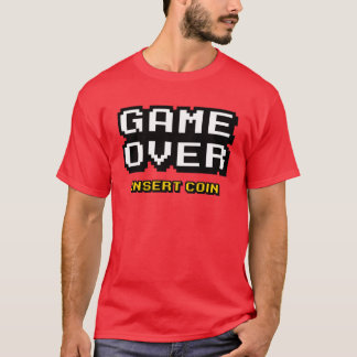 Game Over 80s retro arcade pinball T-Shirt