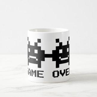 GAME OVER 8 bit pixel art mug for wedding couple