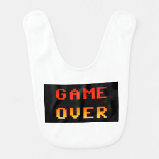Game over 8bit retro bib