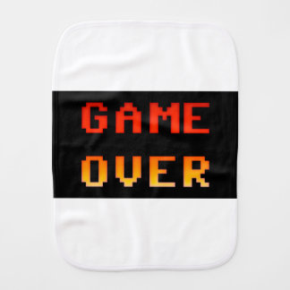 Game over 8bit retro burp cloth