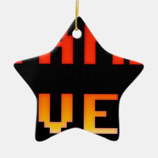 Game over 8bit retro ceramic star decoration