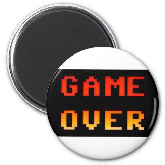 Game over 8bit retro magnet
