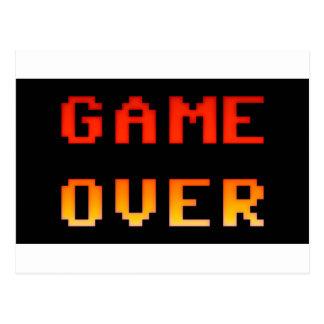 Game over 8bit retro postcard