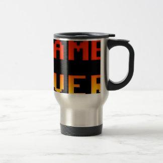 Game over 8bit retro travel mug