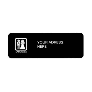 Game over adress label return address label