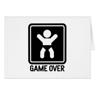 Game Over Baby Greeting Card