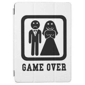 Game Over | Bachelor Stag Party Gift (Black/White) iPad Air Cover