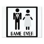 game over bridal couple icon 4.25x5.5 paper invitation card