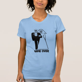 Game Over Bride and Groom Skulls T-Shirt