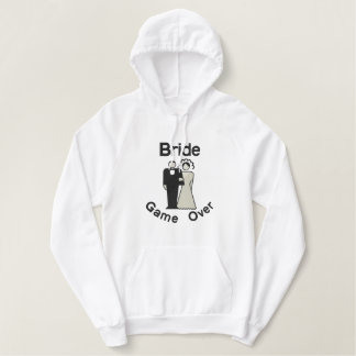 Game Over - Bride Embroidered Hoodie