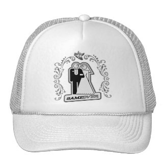 Game Over Bride & Groom Art Deco Style (silver) Trucker Hat