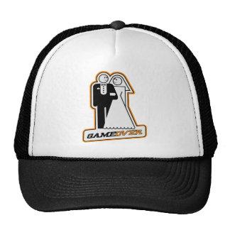 Game Over Bride & Groom TShirt (athletic gold) Trucker Hat