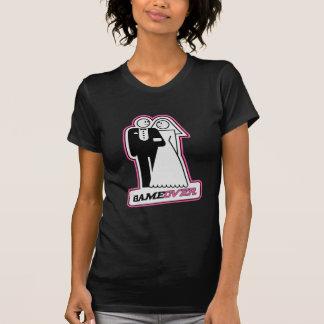 Game Over Bride / Groom TShirt (dark pink)