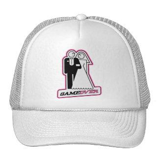 Game Over Bride / Groom TShirt (dark pink) Mesh Hat
