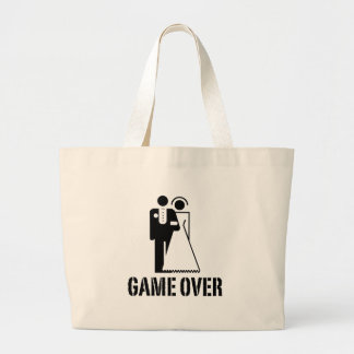 Game Over Bride Groom Wedding Bags