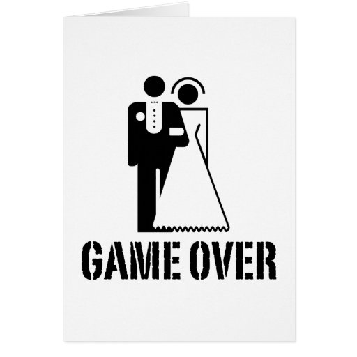Game Over Bride Groom Wedding Greeting Card