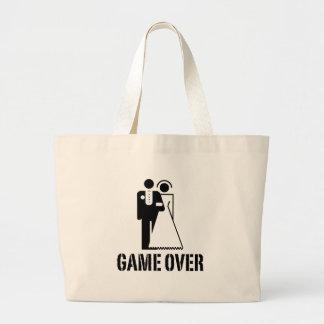 Game Over Bride Groom Wedding Jumbo Tote Bag