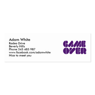 Game over business card template