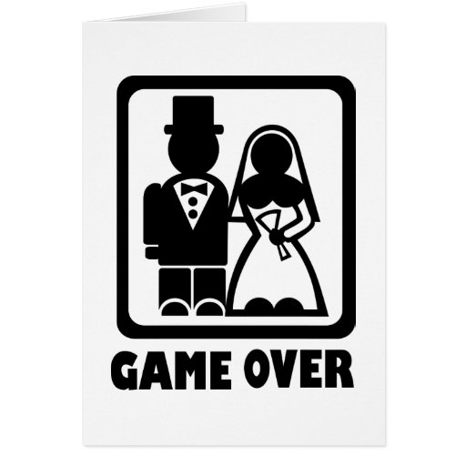 Game over greeting cards