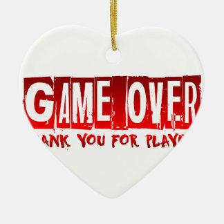 Game over ceramic heart decoration
