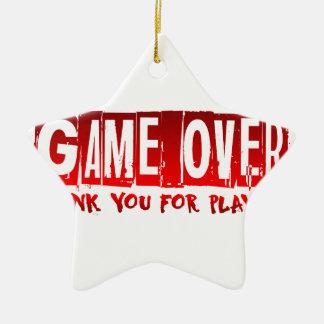 Game over ceramic star decoration