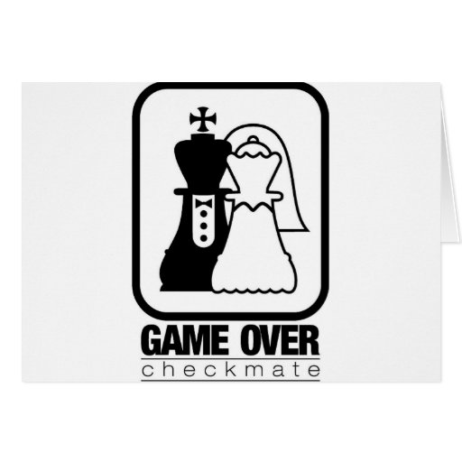 Game Over Check Mate Card