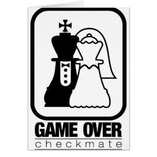 Game Over Check Mate Greeting Card