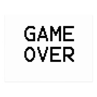 Game Over Classic Game Text Postcard