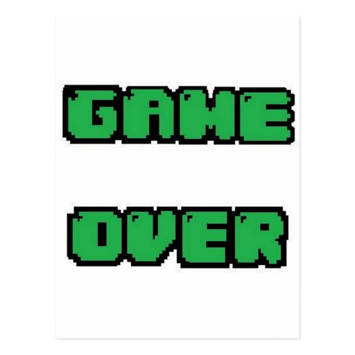 GAME OVER Collection Post Cards