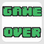 GAME OVER Collection Square Sticker