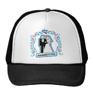 Game Over Deco Wedding Bride and Groom Cap