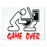 Game Over Drunk 11 Cm X 14 Cm Invitation Card