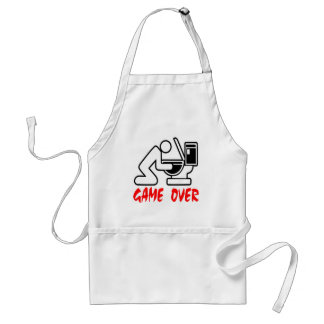 Game Over Drunk Adult Apron