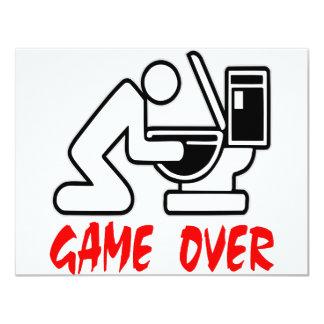 Game Over Drunk 11 Cm X 14 Cm Invitation Card