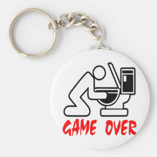 Game Over Drunk Key Ring