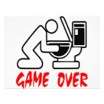 Game Over Drunk Personalized Invites