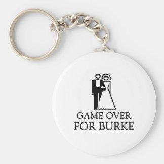 Game Over For Burke Key Ring