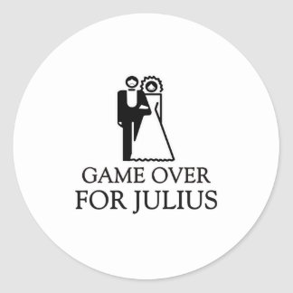 Game Over For Julius Round Sticker