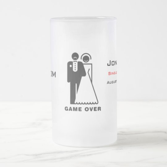 Game Over Frosted Mug - Sad Groom